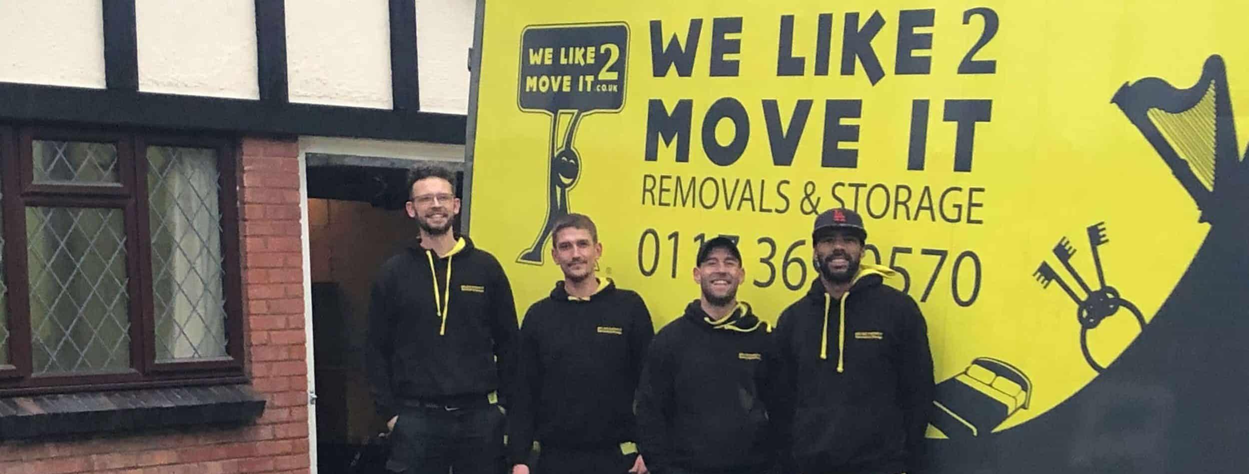 We Like 2 Move It Removals Bristol van
